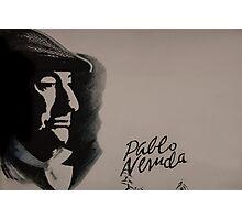 Mural Of Nobel Laureate Poet Pablo Neruda Photographic Print