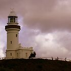 Pink Haze - Byron Bay Lighthhouse by Kimberly Caldwell