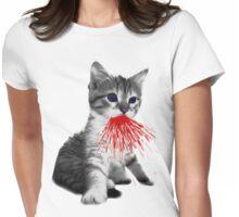 Fire Kitten Miaow Womens Fitted T-Shirt