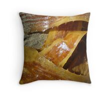Shiny Seaweed on a Sandy Shore Throw Pillow