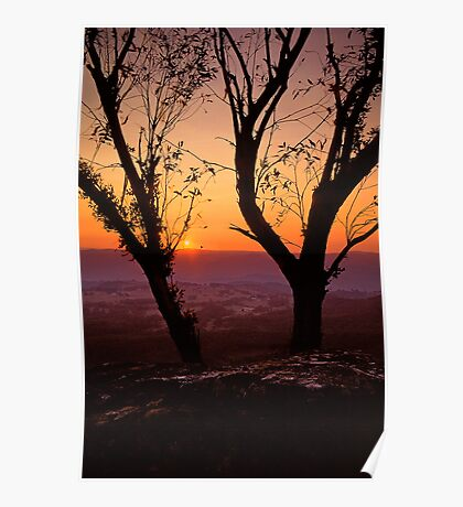 Blue Mountains Sunset - Blackheath NSW Poster