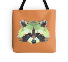 Geometric Raccoon Tote Bag