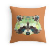 Geometric Raccoon Throw Pillow