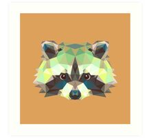Geometric Raccoon Art Print