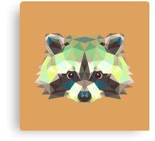 Geometric Raccoon Canvas Print