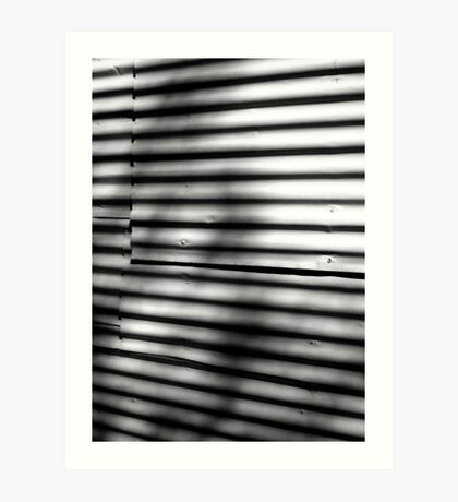 Corrugated Study: Shadows on a Wall Art Print
