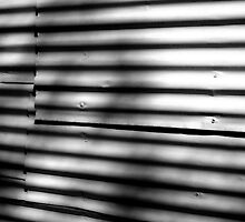 Corrugated Study: Shadows on a Wall by Erica Corr