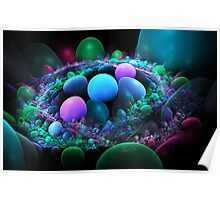 Pile of Pretty Pebbles Poster