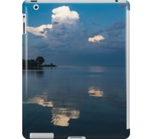 Cool Blue and White iPad Case/Skin
