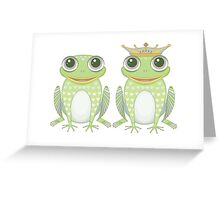 Frog and Crowned Frog Greeting Card