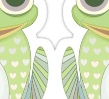 Frog and Crowned Frog Sticker