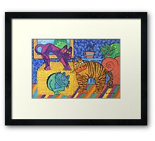 'Cracked Cats' At Home Framed Print
