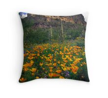 Organ Pipes Poppies Throw Pillow