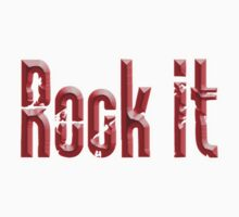 ROCK, Rock it, Red, Rock & Roll, Rock Music, Rock band, Rockers Kids Clothes