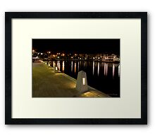 East Perth at night Framed Print