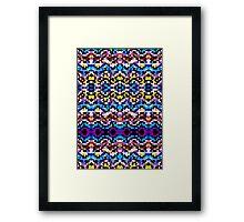 Aztec Mosaic Texture Framed Print