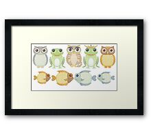 9 Friends Framed Print