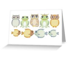 9 Friends Greeting Card