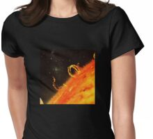 Burning the sun. Womens Fitted T-Shirt