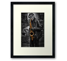 Sax Love Framed Print