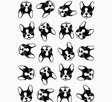 French bulldog pattern Womens Fitted T-Shirt