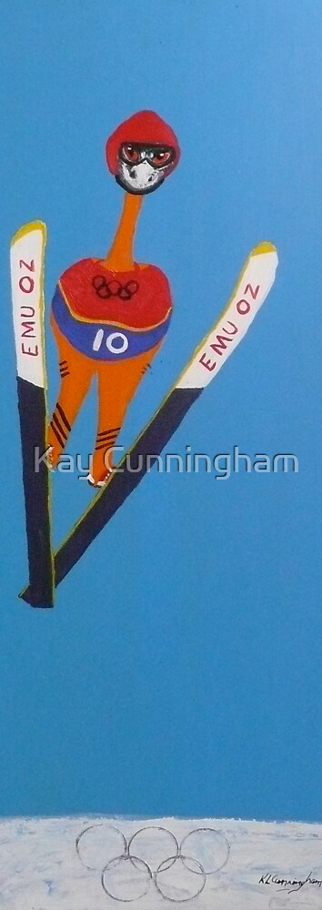 Emu - Aussie Flies For Gold in Winter Olympics by Kay Cunningham
