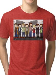 SuperWhoLock Lineup Tri-blend T-Shirt