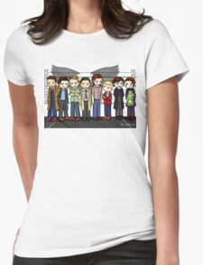 SuperWhoLock Lineup Womens Fitted T-Shirt