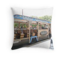 Albuquerque City Tour Trolley. Throw Pillow