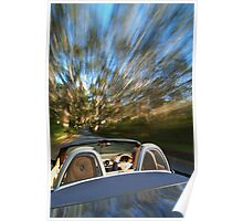 Porsche Boxster on the move Poster