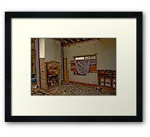 raise the curtains Framed Print