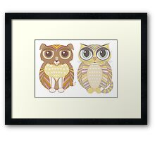 Friendly Dog and Big-Eyed Cat Framed Print