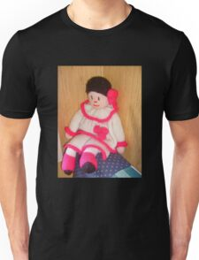 Doll with pink socks Unisex T-Shirt