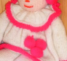 Doll with pink socks Sticker