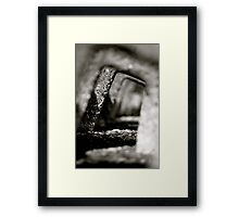 Receding Sea Wall Framed Print
