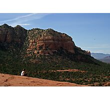 Girl on Bell Rock Photographic Print