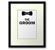 The groom bow geek funny nerd Framed Print