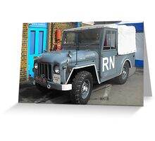 Navy jeep Greeting Card
