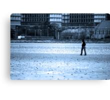 A solitary walk Canvas Print
