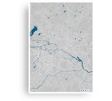 Berlin city map grey colour Canvas Print