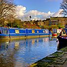 The Blue Barge - Skipton. by Trevor Kersley