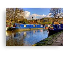 The Blue Barge - Skipton. Canvas Print