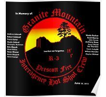 Prescott Granite Mountain Hotshots Memorial T-Shirt Poster