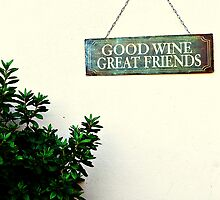 good wine great friends by robynut