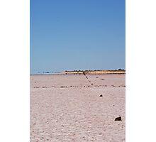 Fence Line ,Lake Ballard,West Australia. Photographic Print