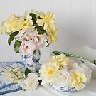 Delicate Garden Roses by Catherine Wood