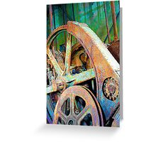 Old Gold Digger Gears Greeting Card