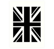 BRITISH, UNION JACK, FLAG, UK, UNITED KINGDOM, IN BLACK Art Print