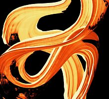 Fire Water 207 By Sharon Cummings - Orange And Yellow Abstract Art Painting by Sharon Cummings