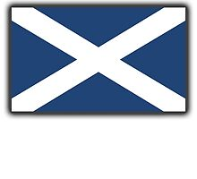 Scotland, SNP, S.N.P, Scottish Independence, Scottish Flag, Saltire, Scots, Flag of Scotland, Pure & Simple by TOM HILL - Designer